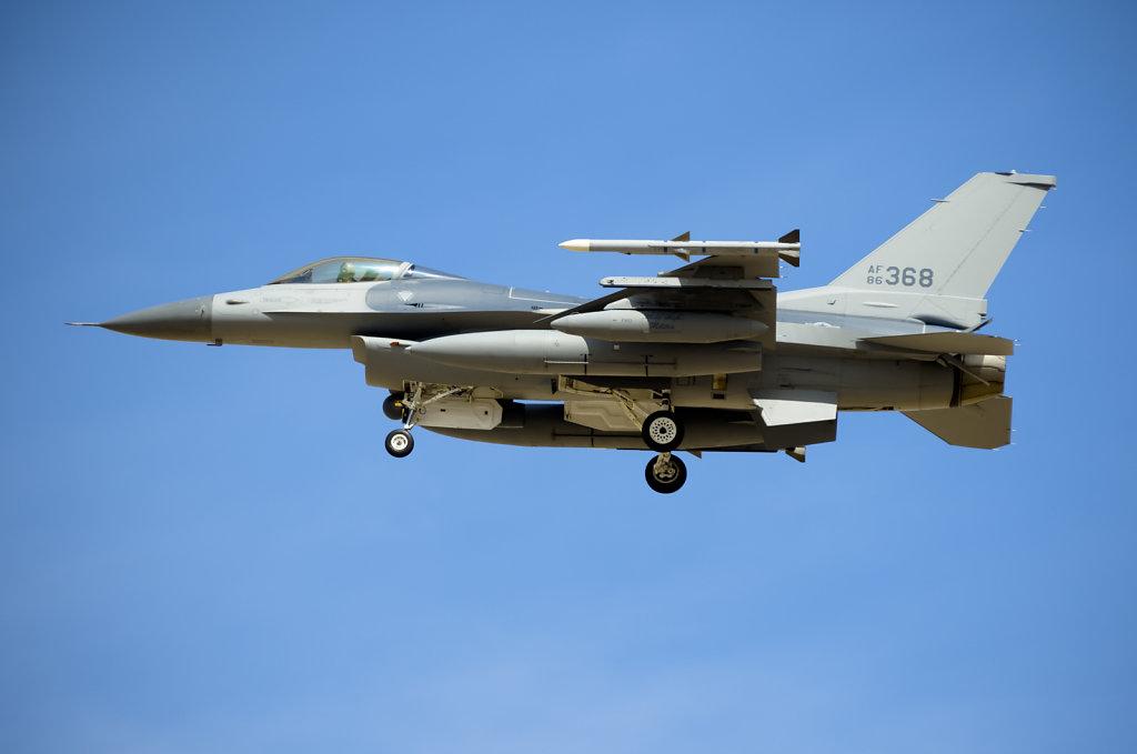 F-16 Prepares to Land