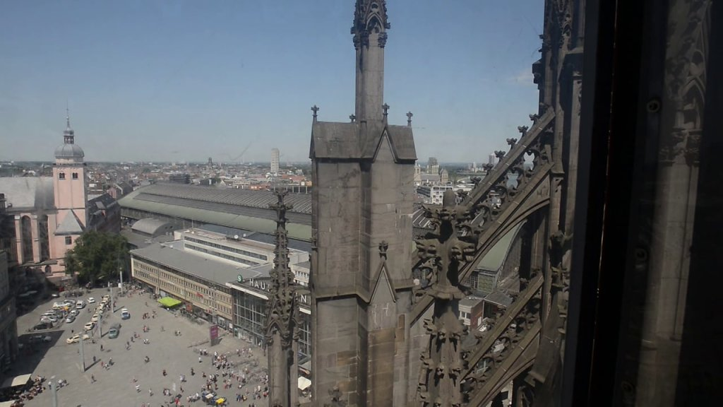 Rooftop View from the Gothic Cathedral in Cologne, Germany