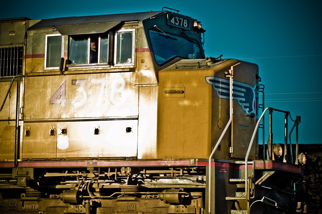 Locomotive with Engineer